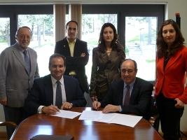 Firma del convenio entre UDIMA y CFICD