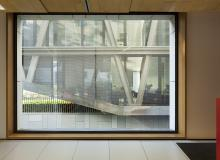 Vista entre módulos de la sede central de la UDIMA