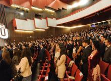 Alumnos de Udima en el acto de graduación de 2015