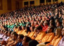 Profesores y alumnos de Udima en el acto de graduación 2016