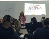 Ana Landeta, durante la presentación (Redacción: Luis Miguel Belda)