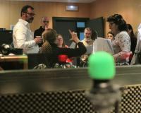 Taller de radio, en el estudio de UDIMA Media, con Yolanda Berdasco