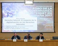 Eugenio Lanzadera, a la izquierda de la imagen (Redacción: UDIMA Media)