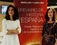 María y Laura Lara, durante la presentación