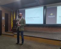 Rodríguez Ruibal en su conferencia en UNIMINUTO