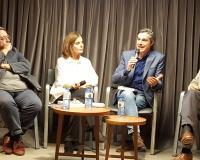 Margarita Garbisu junto a Ignacio Blanco, Jesús R. Mantilla y Basilio Baltasar, este martes en Madrid.