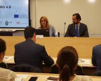 Ana Landeta y Arturo de las Heras, este miércoles en la sede del Grupo CEF.- UDIMA en Madrid.