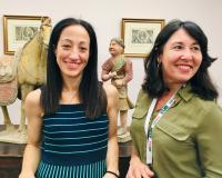 Las profesoras Ana Vico y Paloma Villarreal