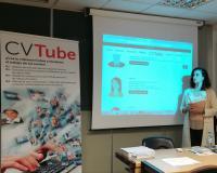 Silvia Nazareth Prieto, durante la presentación (Redacción y fotografías: Alberto Orellana)