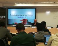 Modestos Stravakis, este miércoles en la sede del Grupo CEF.- UDIMA.