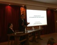 Ricardo Díaz, durante su intervención (Redacción e imagen: Marta Peiro)