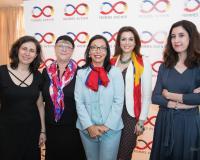 Foto de familia de las ponentes (Redacción: UDIMA Media/Fotografía: Julia Robles)