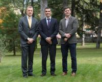 De izquierda a derecha, Fernando Herrero-Nieto, Juan Luis Rubio y Javier Jarauta.