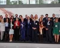 Foto de familia de la representación empresarial de la Comunidad de Madrid