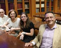 Eugenio Lanzadera, Aludena Sanz y Margarita Garbisu