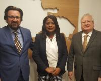 Luis Miguel Belda, Doris Araujo y Fredy Araujo (Redacción: UDIMA Media/Imagen: Alejandro Benito)
