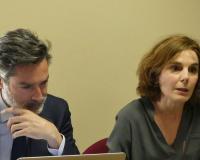 Ignacio Blanco y Margarita Garbisu, decana de la Facultad