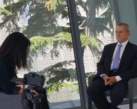 Manuel Conthe, entrevistado por la profesora Nazareth Romero (Redacción: Luis Miguel Belda/Imagen: Alejandro Benito)