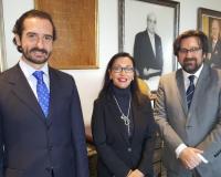 De izquierda a derecha, Arturo de las Heras, María Luisa de Contes y Luis Miguel Belda (Redacción: UDIMA Media)