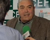 Esteban Ibarra, en declaraciones a UDIMA Media (Redacción: Alberto Orellana, Marta Peiro y Luis Miguel Belda/Imagen: Alejandro Benito)