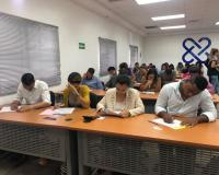 Haciendo el examen final en Santo Domingo