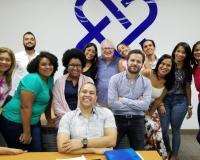 Estudiantes en República Dominicana, con Antonio Reina y Fredy Araujo