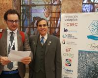 Los profesores Felipe Debasa y José Luis Cordeiro, impulsores del Congreso (Redacción y fotografías: Luis Miguel Belda)