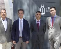De izquierda a derecha, Ángel Benseny, Andrés Delgado, Juan Luis Rubio y Jorge Benseny (Redacción: Luis Miguel Belda. Fotografías: Ana Rodrigo)