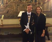 Javier Cabo junto a su esposa Marian Bellmont y Lerma (Redacción: UDIMA Media)