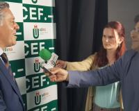 Eduardo de Porres, presidente de la Audiencia Provincial de Madrid, atiende a los periodistas (Redacción: Marta Peiro y Alberto Orellana/Fotografías: Luis Miguel Belda/Abel González/SUP)