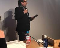 Luis Miguel Belda, durante la exposición.