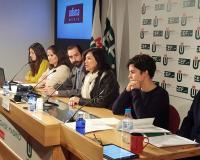 De izquierda a derecha en la imagen: Alejandra González, Mar de los Santos, Arturo de las Heras, Concha Burgos, Ana Rodrigo y Raúl Barrón.
